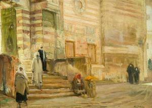 "Henry O. Tanner A Mosque in Cairo, 1897, oil on canvas, 9 ½ x 13"" William M. Lewis, Jr. and Carol Sutton Lewis Photo: Joshua Nefsky"