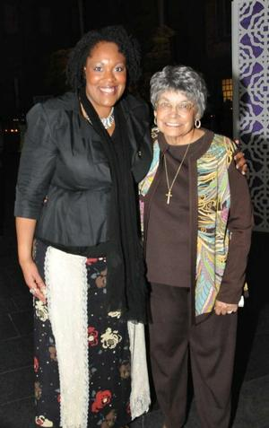 Jacqueline Lawton and Hazel Biggers, wife of the late John Biggers, Washington, DC, 2012. Photo: J. Lawton collection