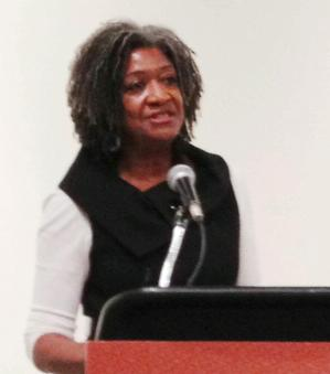Johanne Bryant-Reid, co-director, Romare Bearden Foundation.  Photo Bridget Cooks.