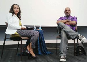 Danielle Burns, Romare Bearden Fellow (2008-9) and artist, poet, and director of Rush Arts Gallery, Danny Simmons. Photo Bridget Cooks.