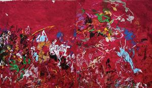 WMD: Remembering Sardanapalus, 2004-2006 Robert Colescott (1925-2009). Courtesy of the Museum of the African Diaspora, San Francisco