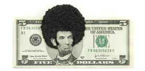 Sonya Clark, Abe's Fro. Photo: courtesy of artist.