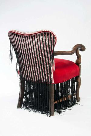 Sonya Clark, Corn Row Chair. Photo: courtesy of artist.