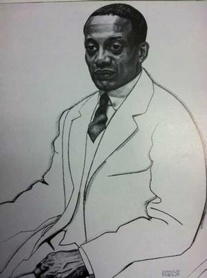 Winold Reiss, Alain Leroy Locke, 1925. Collection: The National Portrait Gallery, Smithsonian Institution.