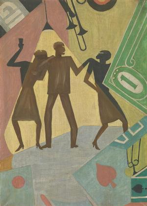 Aaron Douglas, The Prodigal Son, ca. 1927, o/c, 26 x 18, Cochrane Fund