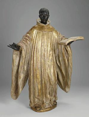 St. Benedict of Palermo. José Montes de Oca, attrib.ca. 1734, the Minneapolis Institute of Art. On view in Revealing the African Presence in Renaissance Europe.