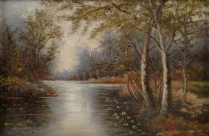 Gwendolyn Bennett, Untitled (River Landscape), oil on canvas, 1931. Sold October 18, 2012 for $4,320. Courtesy of Swann Auction Galleries.