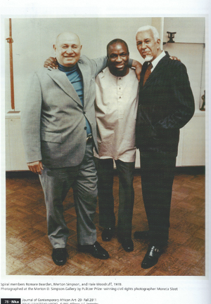 Romare Bearden, Merton Simpson and Hale Woodruff. Photo collection of Merton Simpson Gallery
