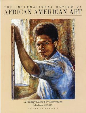 Cover, v.19., n 2, artist self portrait at about age 17, c.1944. Barnett Aden Collection.