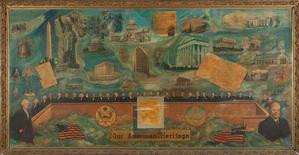 John Farrar, Our American Legacy, oil on canvas, 52x106. Collection of Fritz Racine