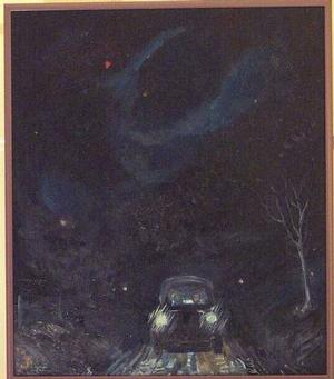 John Farrar, Night Riders, 12x14. Collection of S. Goree and A. McCoy