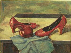 John Farrar, Shoes, Apple and Hankie, 12x16. Collection of S. Goree and A. McCoy