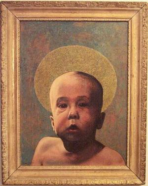 John Farrar, The Christ Child, 1962, oil, 16x12. Collection of S. Goree and A. McCoy