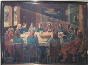 John Farrar, The Last Supper, oil on masonite, 26x36.