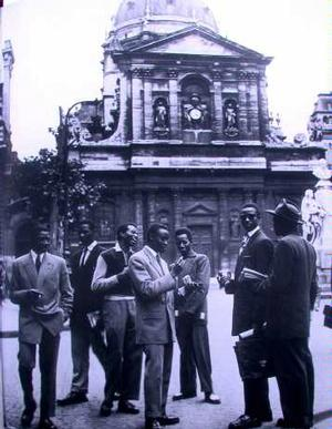 Group at 1956 Congress of Negro-African Artists and Writers in Paris.