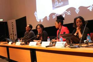 Show Up to Show Out panel.   Photo:  Laylah Amatullah Barrayn.