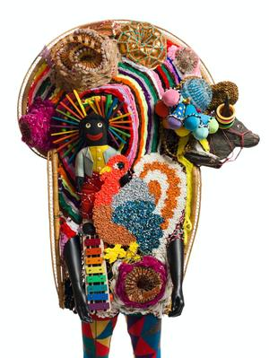 Nick Cave, Soundsuit, 2011. Mixed media. James Prinz Photography, Chicago. Courtesy of Nick Cave and the Jack Shainman Gallery, New York.