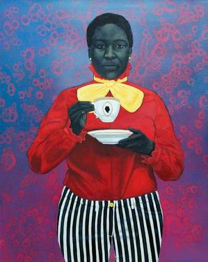Amy Sherald, Grand Dame Queenie, 2013, oil on canvas, 54x43. Courtesy of Galerie Myrtis.