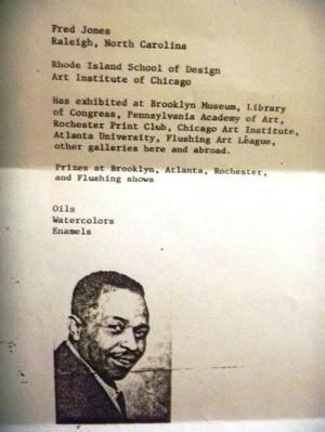 Jones resume.  Collection of Donnell Walker