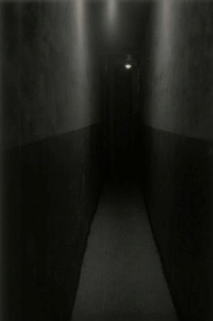 "Roy DeCarava, Hallway, New York,  1953, gelatin silver print, 14 x 11."" Courtesy of the DeCarava Archives"