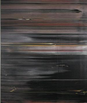 "Jack Whitten, Black Table Setting (Homage to Duke Ellington), 1974, acrylic on canvas,  72 x 60."" Collection of the Art Fund, Inc. at the Birmingham Museum of Art; Purchase with funds provided by Jack Drake and Joel and Karen Piassick"
