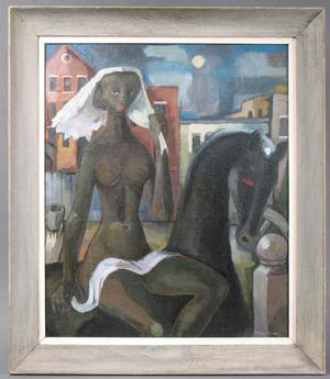 "Lady Godiva, 1950, oil on canvas, 30 x 25"". Courtesy Lusenhop Fine Art"