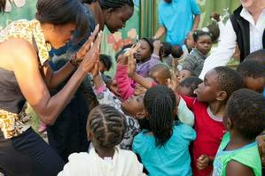 Michelle Obama on 2011 trip to South Africa and Botswana.