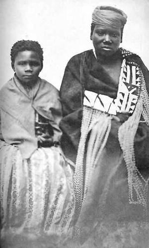 Nonkosi (right) with fellow prophet Nongqawuse,  circa 1857. Photo: Wikipedia Commons