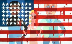The Flag is Bleeding/American People Series © Faith Ringgold