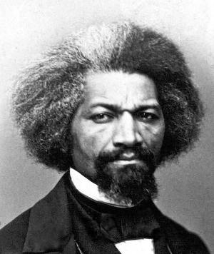 Frederick Douglass c. 1860s. Symposium presenter Zoe Trodd discussed Frederick Douglass imagery in 20th centruy visual culture.