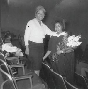 Willi Posey and Faith Jones, high school graduation, 1948.  Photo: Ringgold collection