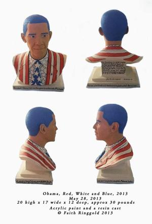 Barack Obama bust ©Faith Ringgold