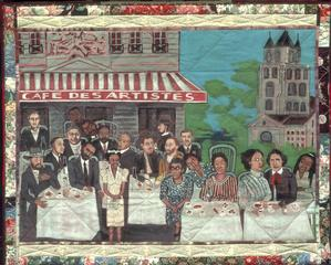 Cafe des Artistes/The French Collection © Faith Ringgold