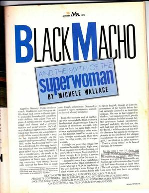 Page from Black Macho Excerpt in Ms., December 1968. Michele Wallace Collection.