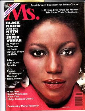 Michele Wallace on cover of Ms. magazine, December 1978.