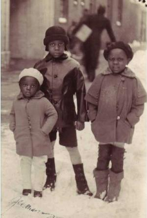 Posey children in coats designed by their mother, 1932. Photo: D'Laigle