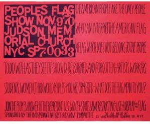 The People's Flag Show/Poster 1970, offset 24 x 29.5
