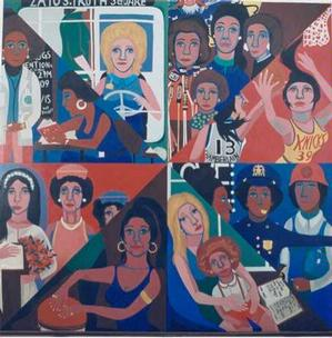 Faith Ringgold, For the Women's House, 1970, oil on canvas, 96 x 96