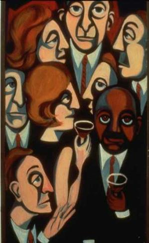The Cocktail Party/American People 1964 © Faith Ringgold