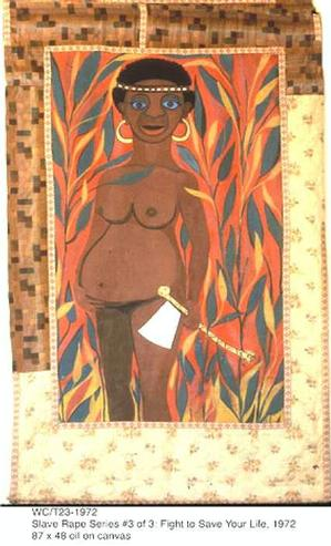 Fight to Save Your Life/Slave Rape Series © Faith Ringgold