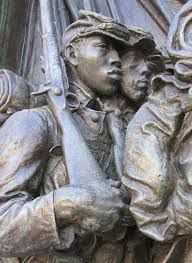 Detail from Saint Gaudens' Shaw Memorial