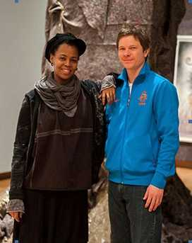 Trevor Schoonmaker with Wangechi Mutu. Photo: Nasher Museum
