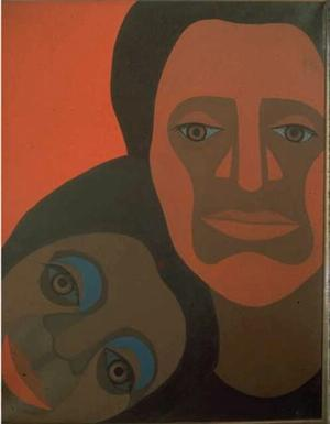 Mommy and Daddy/Black Light Series 1969 © Faith Ringgold