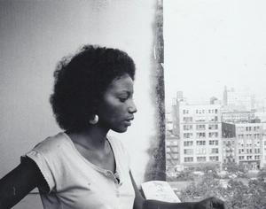 Michele Wallace on her terrace at Washington Square Village in 1978. Photo: Barbara Wallace