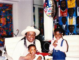 Faith Ringgold and granddaughters, 1986. Ringgold Collection