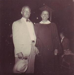 Faith Ringgold with her Uncle Cardoza, CCNY graduation, 1955. Ringgold Collection