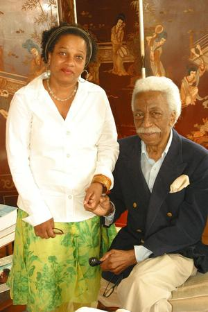 Michele Washington and Gordon Parks, 2006. Photo: Anthony Barboza