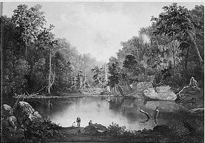 Robert S. Duncanson, Blue Hole, Little Miami River (1851), Series: Artworks by Negro Artists, compiled 1922-1967, Collection: Harmon Foundation Collection, 1922-1967