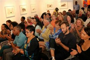Audience at the New Jersey Poet Laureate Family Reading program, Aljira, September 6, 2013. Photo: Akintola Hanif