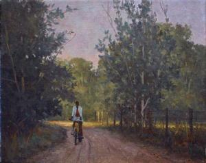 Mason Archie, Woman on Yellow Bike, 8x10